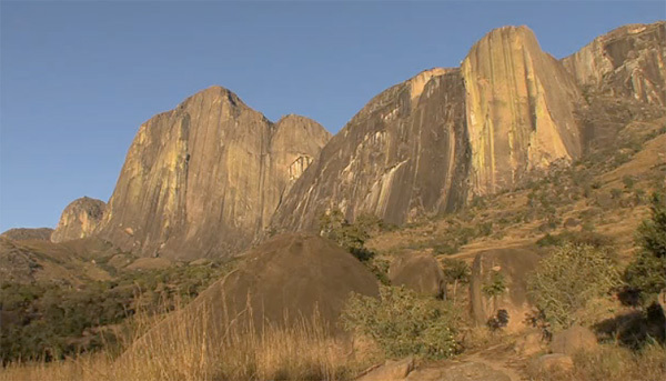 The Tsaranoro massif in Madagascar. Still taken from the film Tough Enough by Laurent Triay, Laurent Triay