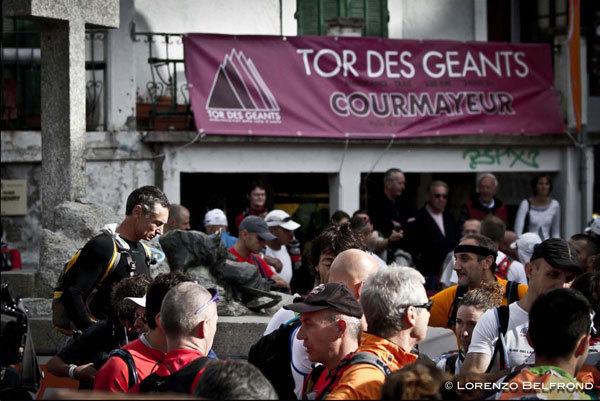Alla partenza del Tor des Geants 2010 , Lorenzo Belfrond