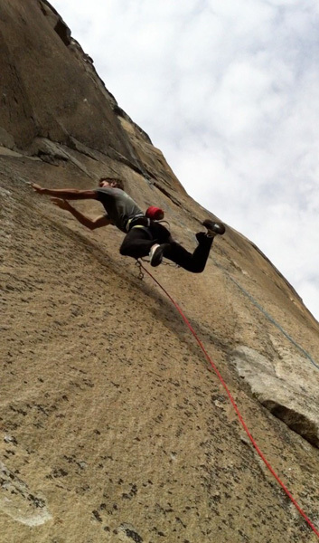Kevin Jorgeson on the massive dyno on pitch 16 of Mescalito, El Capitan, Yosemite, Cooper Blackhurst