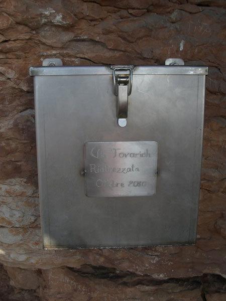 Cassetta libro di via, arch. Beppe Ballico
