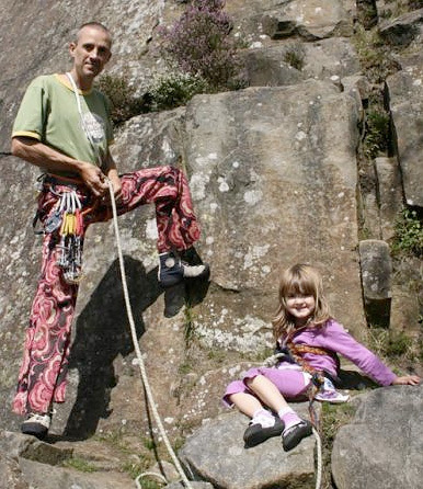 Steve McClure with his daughter and, yes, EB's, archive Steve McClure