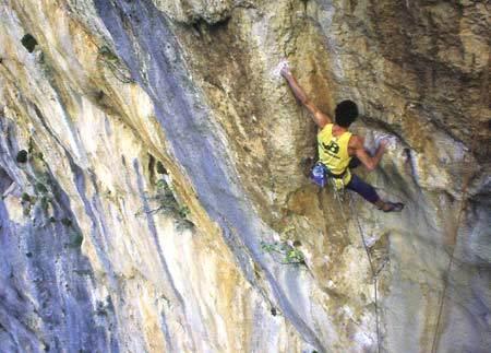 Pietro Dal Prà climbing Hotel Supramonte, Lorenzo Nadali