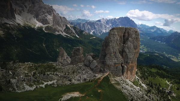 Cinque Torri, Dolomites, arch. Rosso 70