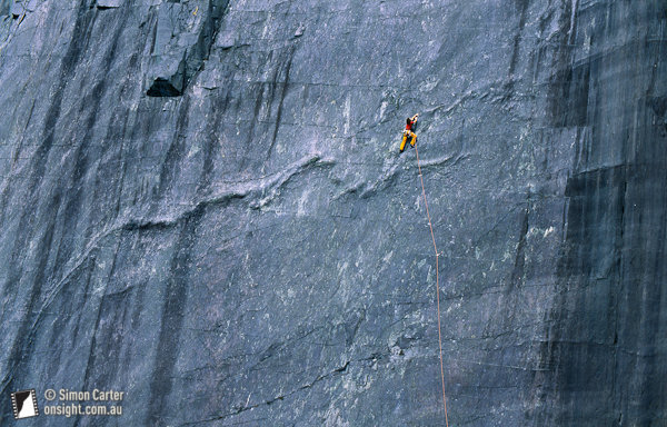 Ben Heason, Slipstream (E6 6a) Rainbow Slab, Llanberis, Wales, UK, Simon Carter