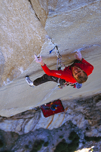 Leo Houlding su The Prophet, El Capitan, Yosemite, USA, Alastair Lee