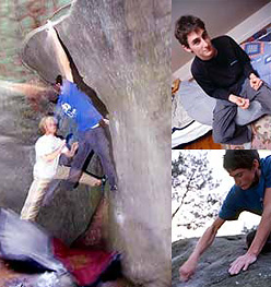 Dave Graham bouldering at Fontainebleau, Roberto Fioravanti