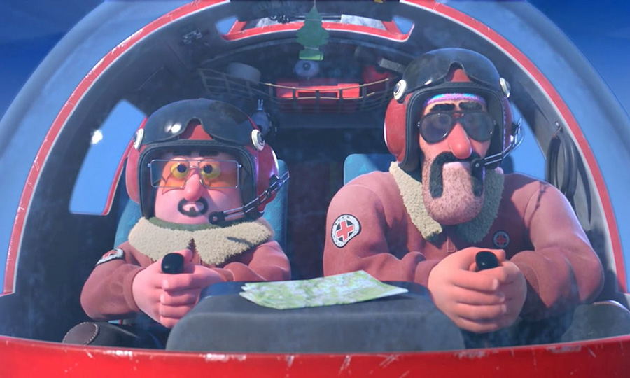 Hors Piste, the unmissable animated short film with mountain rescuers Parmesan Salami