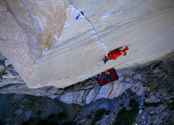 Leo Houlding libera The Prophet, El Capitan, Yosemite, USA, Alastair Lee