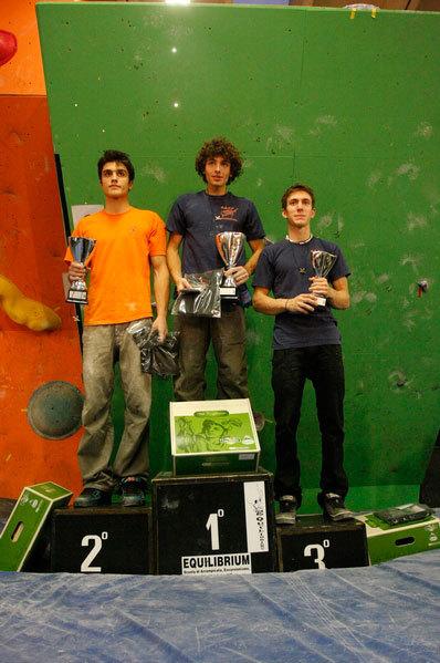 Podio maschile con: Jacopo Larcher (1°), Niccolò Ceria (2°), Stefano Ghisolfi (3°)., Stefano Pichi
