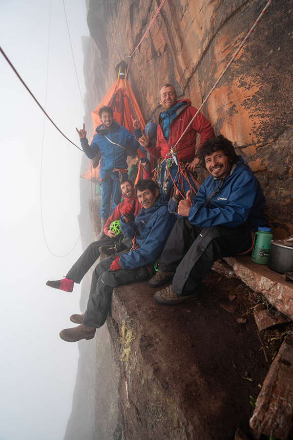 Mount Roraima: the crew during the first ascent Coldhouse Colllective / Berghaus
