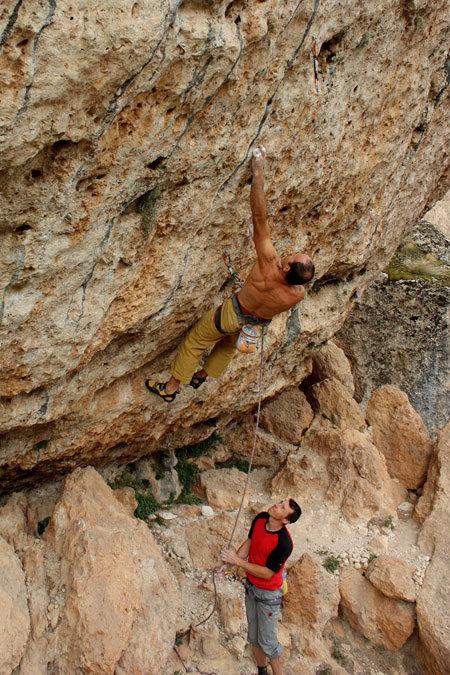 Rolando Larcher climbing in Kazikli Valley, Ince Recep
