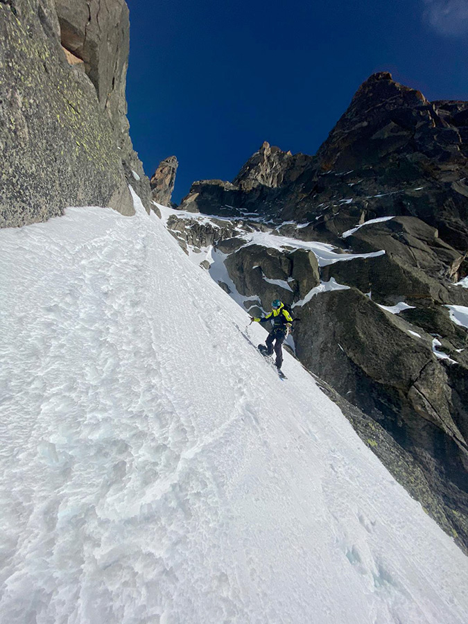 Julien Herry, Yannick Boissenot score new new descent on Aiguille du Peigne in Mont Blanc massif