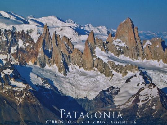 The Fitz Roy massif in Patagonia, Gruppo Catores