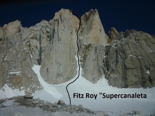 Fitz Roy, Supercanaleta, Gruppo Catores