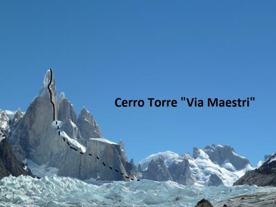 Cerro Torre, Via Maestri, Gruppo Catores