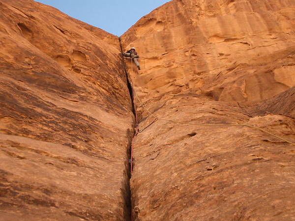 Climbing in Wadi Rum - Sundown, Bellin & Cozzini collection