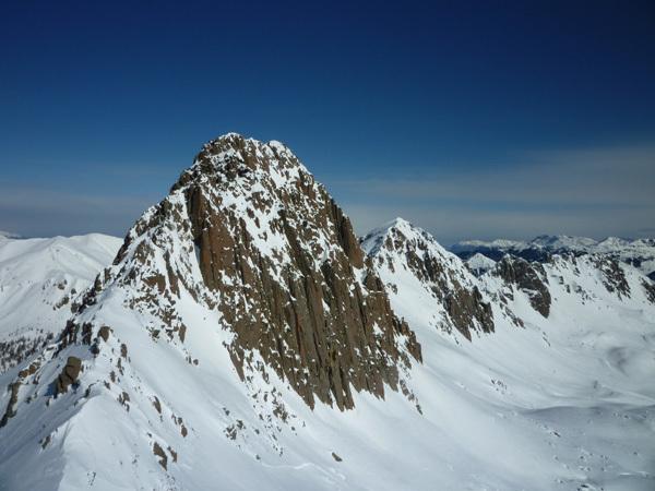 Sasso Rosso - Dalla cima, la vista sulla parete meridionale del Sasso Rotto, Alessandro Beber