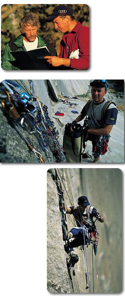 Tomaz Humar with Jim Bridwell, and on Reticent Wall, Yosemite, Matej Mejovsek