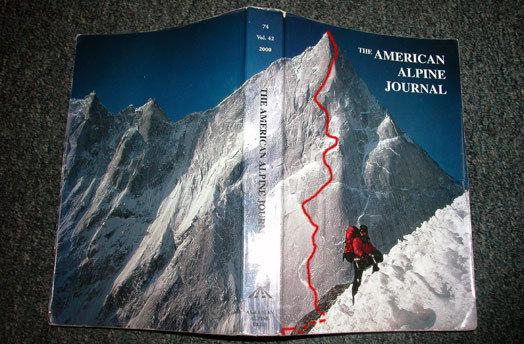 Arwa Tower - la foto  che ha dato inizio a tutto - la copertina dell'American Alpine Journal del 2000, scattata da Mick Fowler, Alpinist.com