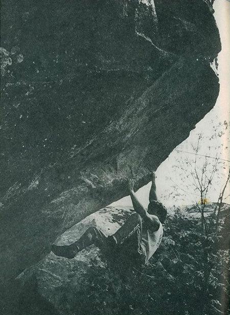L'ARTE DEL BÜCIUN arrampicata sui sassi della Val Masimo, di Chicco Fanchi e Pierangelo Marchetti, 1984, arch. E. Fanchi