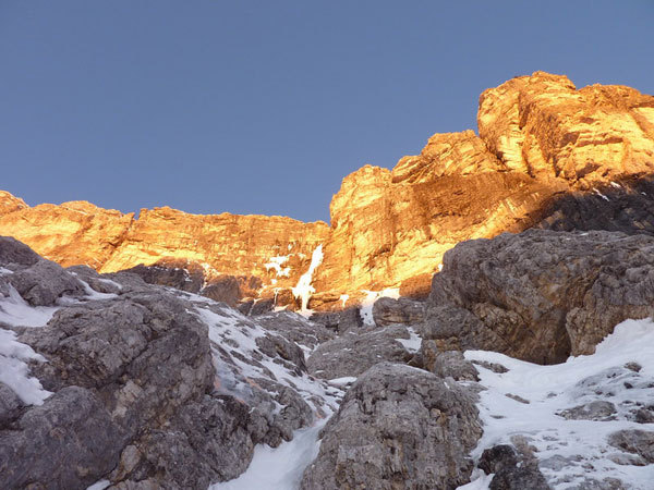 First light on the icefall, arch. G. Ballico