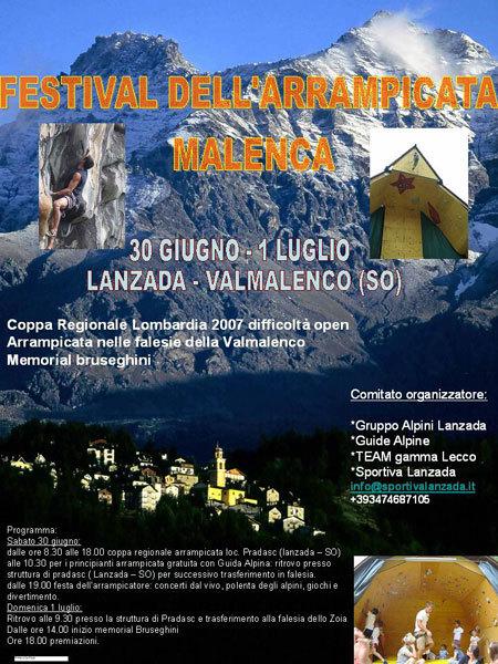 Festival dell'arrampicata Malenca, Planetmountain.com