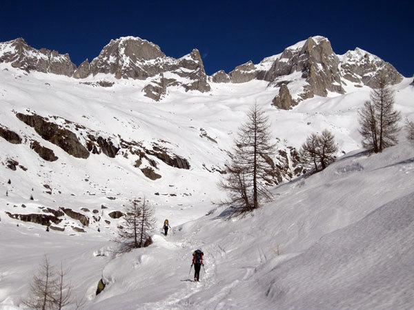 Val Porcellizzo, Badile e Cengalo in inverno, arch. L. Maspes