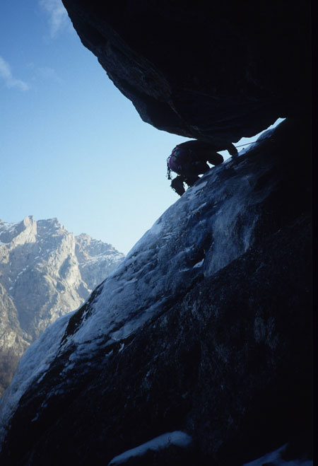 Gran Couloir Lobbia, first ascent, arch. L. Maspes