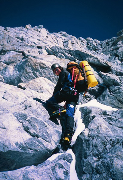 On the second ascent of the Waddington Range Traverse (Coast Range, British Columbia), at 19 years old., Mark Bunk