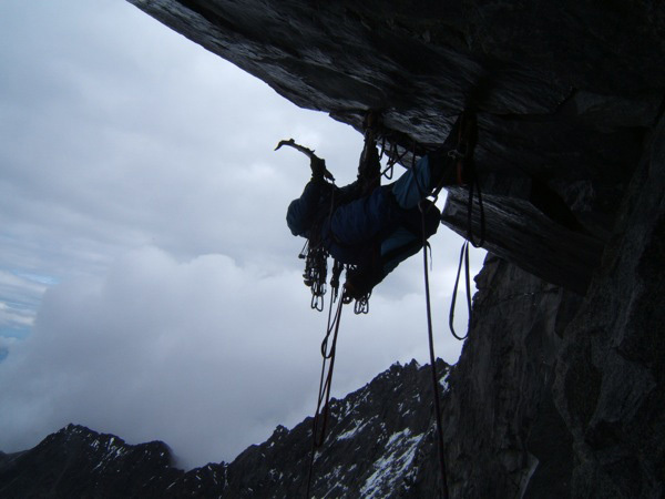 Colin Haley on the first ascent of The Entropy Wall on Mt. Moffit, Alaska., Jed Brown