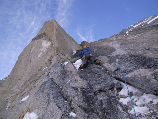 An attempt on the Bibler-Klewin route on Mt. Hunter, Alaska., Bjørn-Eivind Årtun.