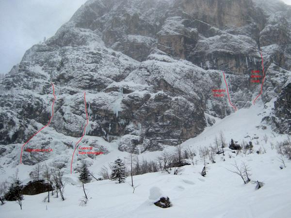 Cascate di ghiaccio in Spragna, Friuli, Massimo Candolini