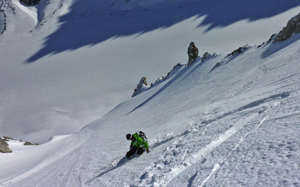 Extreme skiing in the Mont Blanc mountain range, archivio Davide Capozzi