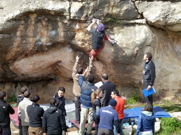 1° gara di boulder a Malta, Ronald Balzan