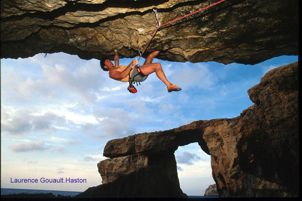 Stevie Haston on the first free ascent of