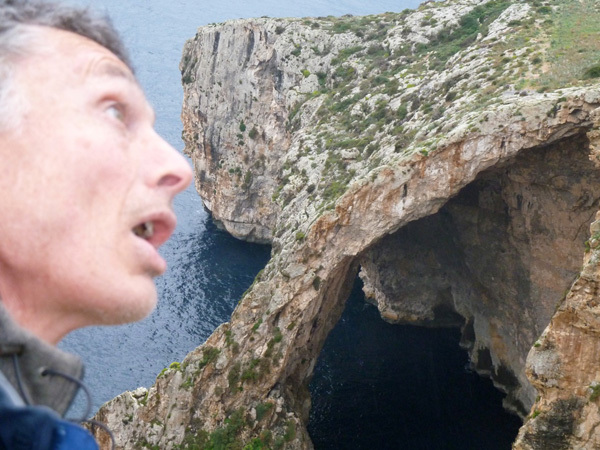 Stevie Haston and the Blue Grotto on Malta..., arch Stevie Haston