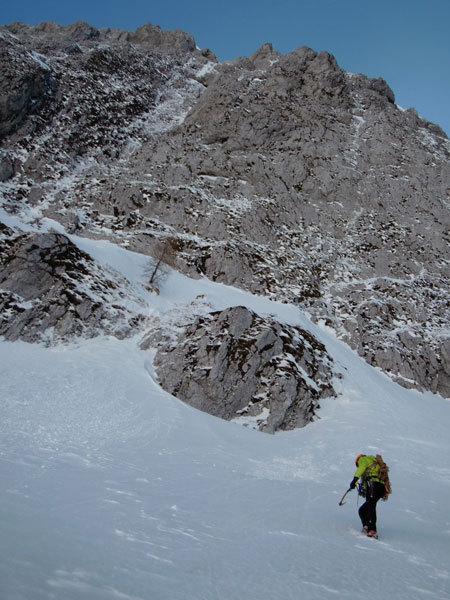 Towrds the NW Face Cimon di Palantina, Dolomites, arch. Bona - Favero