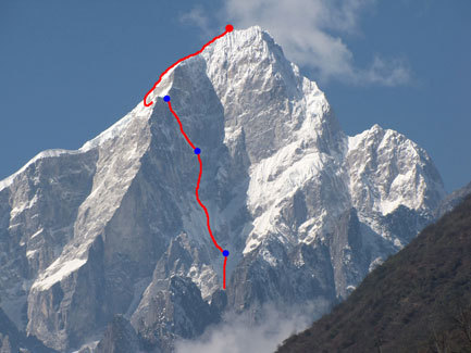 Mount Edgar East Face (6618m), China climbed by Bruce Normand (UK) and Kyle Dempster (USA), arch. Normand, Dempster