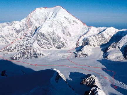 Parete Sud-Est del Mont Foraker (5304m), Alaska by Colin Haley (USA) e Bjorn-Eivind Artun (Norvegia), arch. Haley, Bjorn-Eivind