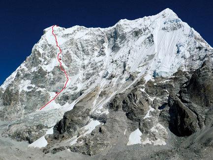 Lunag 1 SE Face (6895m), Nepal by Max Belleville, Mathieu Détrie, Mathieu Meynadier and Sébastiin Ratel (France), arch. Belleville, Détrie, Meynadier, Ratel