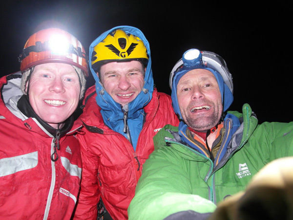On 14/03/2011 British alpinists Nick Bullock, Pete Benson and Guy Robertson established Godzilla IX/8 on Beinn Bhàn, Scotland, Bullock archive