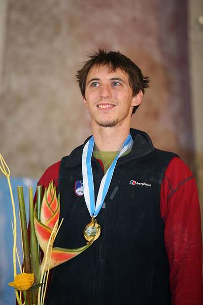 Klemen Becan after winning in Kranj, Slovenia in 2008., Urban Golob