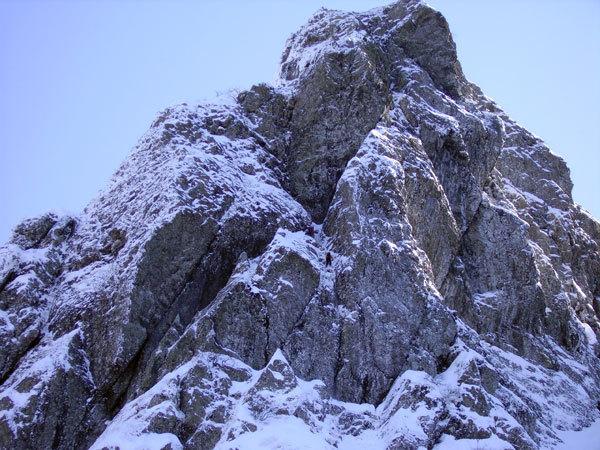 Sulla seconda lunghezza di Superpsyco, Monte Pennino, Davide Chiesa