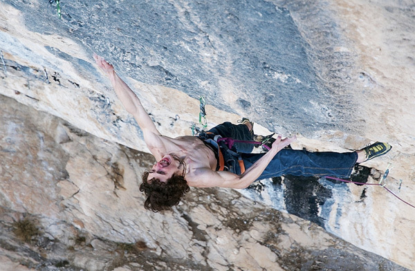 Adam Ondra making the first ascent of Chaxi Raxi 9b, Oliana, Spain