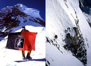 Abele Blanc a 8000 sulla Spalla del K2 e il 'Collo di bottiglia' passaggio chiave della Via delle Sperone Abruzzi al K2, Camandona & Blanc