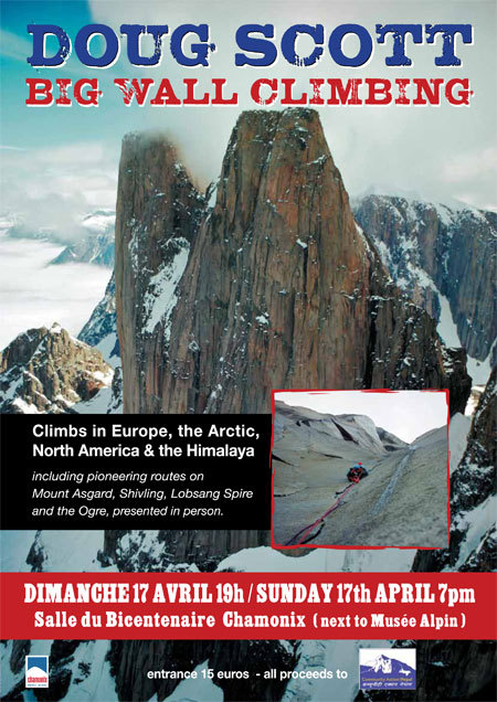 17/04/2011 at Chamonix: Big wall climbing, a lecture by Doug Scott, Planetmountain.com