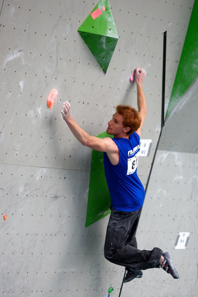 The first stage of the Bouldering World Cup 2011 in Milan, Diego Neonati