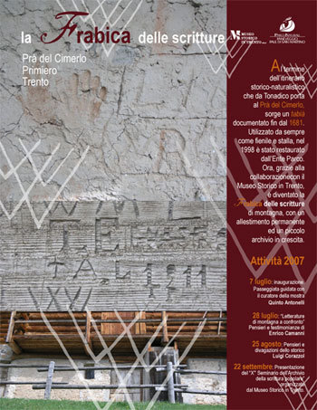 A Prà del Cimerlo (Primiero, Dolomiti) un vecchio tabià restaurato dall'Ente parco Paneveggio è diventato un museo - archivio delle scritture di montagna. , Ente Parco Paneveggio