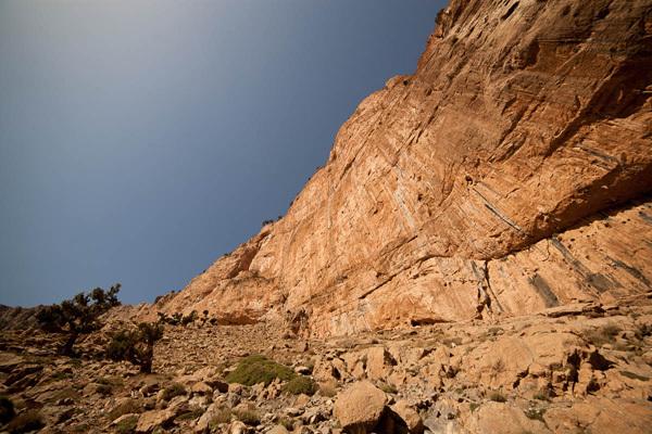 The Cascade wall, Taghia, Morocco, Bertrand Delapierre