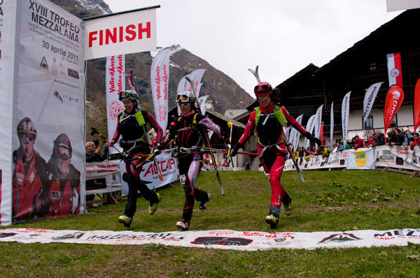At the finish, Marco Spataro